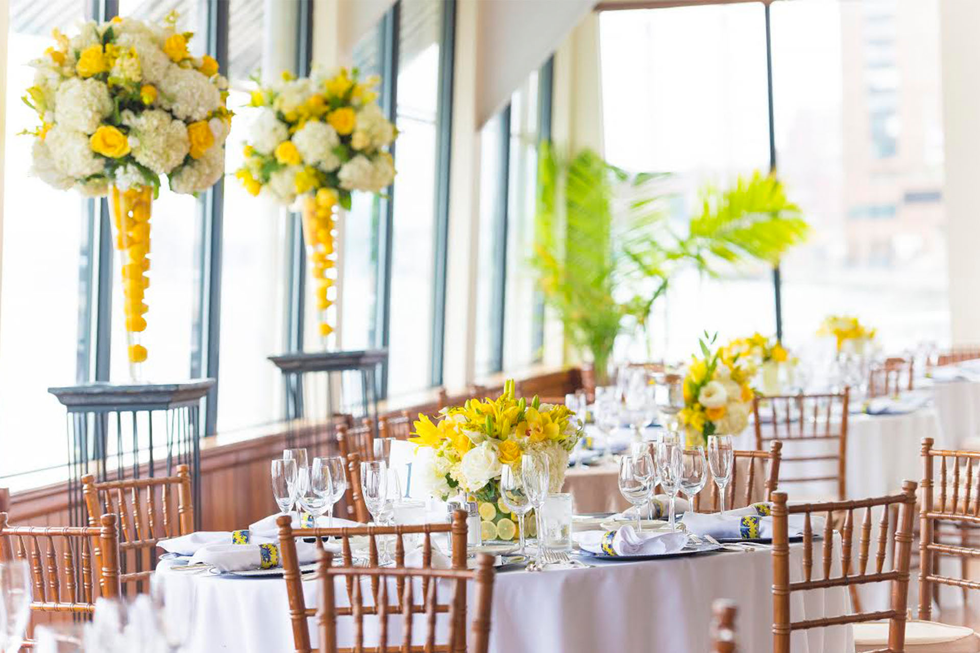 yellow set up bouquet